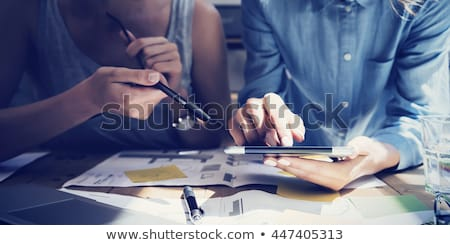 Business Strategy, Working Process of Businessman Stock photo © robuart