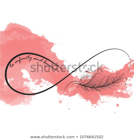infinity symbol with feather Stock photo © blackmoon979
