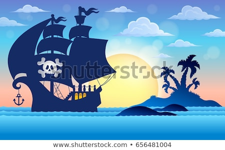 Image with pirate vessel theme 5 Stock photo © clairev