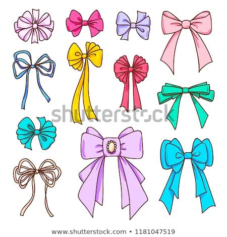 Set Farbe Bögen Design Karten Geschenke Stock foto © ESSL