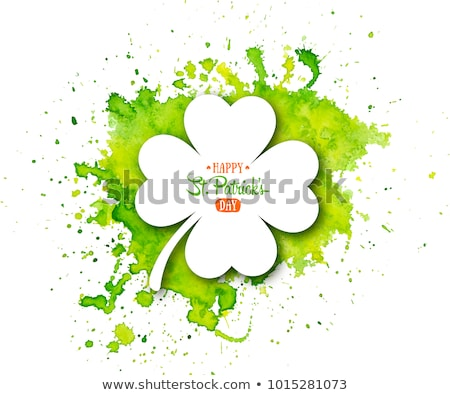 Banner With Clovers Stock photo © cammep