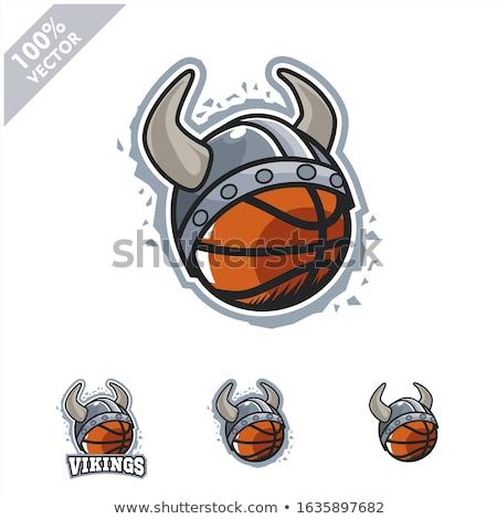 Viking basketbal sport mascotte krijger gladiator Stockfoto © Krisdog