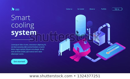 Heating system concept isometric 3D landing page. Stock photo © RAStudio