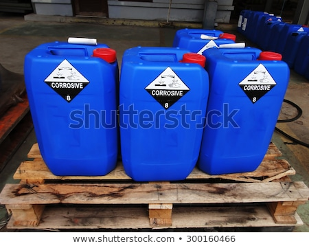 Toxic waste/chemicals stored in barrels at a plant Stock photo © lightpoet