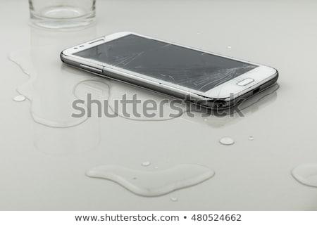 プラスチック · ボトル · 水 · 表 · 孤立した · 白 - ストックフォト © andreypopov