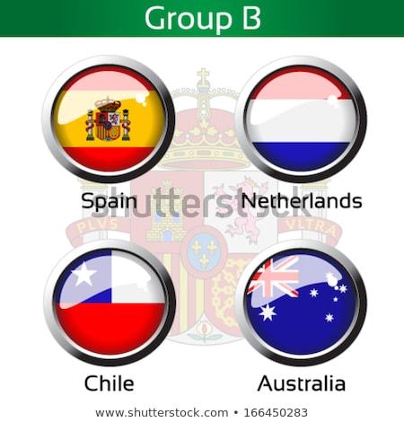 Chile bandeira metal quadro ilustração projeto Foto stock © colematt