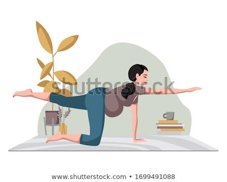беременности · медитации · иллюстрация · беременная · женщина · беременна - Сток-фото © decorwithme