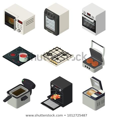 Сток-фото: приготовления · цвета · изометрический · иконки · приготовление · пищи · дизайна