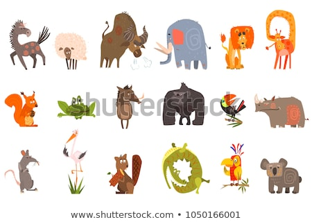 sheep vector funny animal isolated flat cartoon illustration stock photo © pikepicture