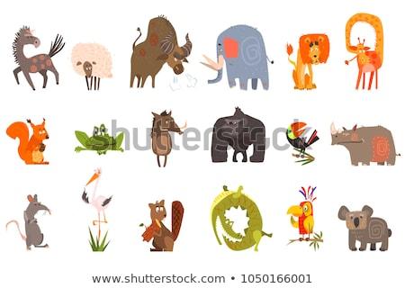 Moutons vecteur drôle animaux isolé cartoon Photo stock © pikepicture