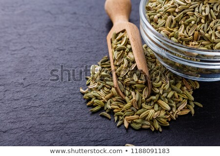 Fennel seeds over white background Stock photo © bdspn