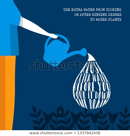 World Water Day eco friendly lifestyle information Stock photo © cienpies