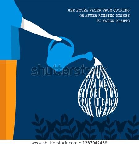 世界 水 日 環境にやさしい ライフスタイル 情報 ストックフォト © cienpies