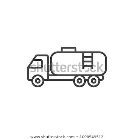 Combustible tanque camión icono color diseno Foto stock © angelp