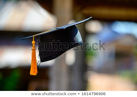 mezuniyet · kapak · simgeler · örnek · beyaz · arka · plan - stok fotoğraf © orensila