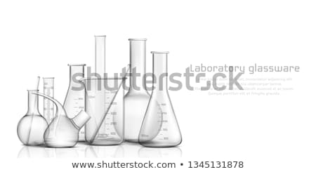 Realistic Chemistry Glass Volumetric Flask Vector Foto stock © pikepicture