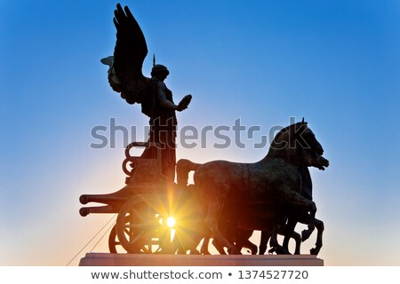 Ancient Rome Terrace of the Chariots monument sun haze view stock photo © xbrchx
