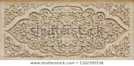 Brick carvings of lotus Stock photo © bbbar