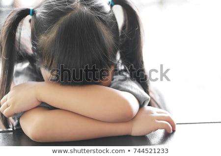 Przedszkole pracy zestaw dziewczyna biurko różny Zdjęcia stock © toyotoyo