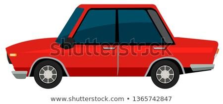 a vinatge car on white background stock photo © bluering