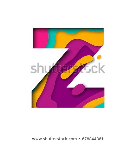 Stock photo: Multi Color Layers Font Letter Z 3d
