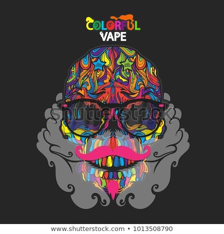 Color vintage vape, e-cigarette poster Stock photo © netkov1