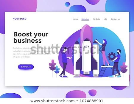 Start up launch app interface template. Stock photo © RAStudio