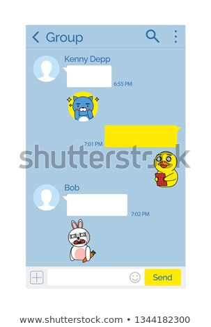 Kakao talk Messenger Design Mockup and Stickers Stock photo © robuart