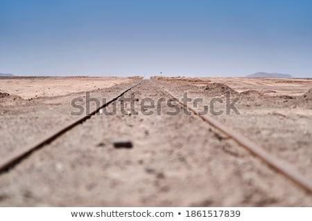 Trilho deserto cena ilustração fundo arte Foto stock © bluering