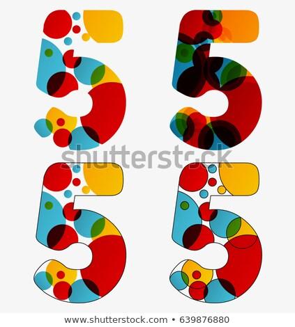 Aantal vier vermenigvuldiging cirkel illustratie school Stockfoto © colematt