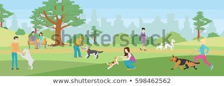 Cartoon · работает · собаки · набор · иллюстрация - Сток-фото © izakowski