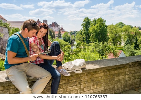 Time to Travel People Reading Map, Man and Woman Stock photo © robuart