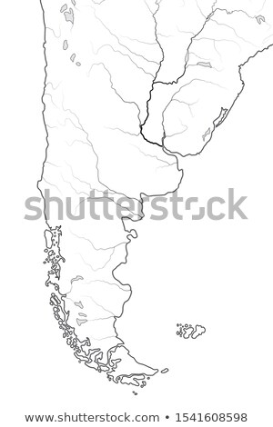 world map of patagonia argentina chile paraguay uruguay patagonia pampas geographic chart stock photo © glasaigh