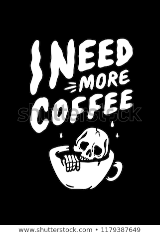 Coffee Skull Isolated Vector Illustration Stock photo © jeff_hobrath