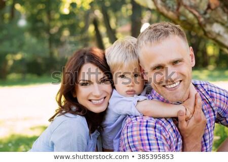 Family spending time together on fresh air Stock photo © dashapetrenko