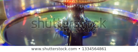 ferromagnetic fluid magnetized by a magnet in a science museum BANNER, LONG FORMAT Stock photo © galitskaya