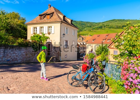 Woman standing on a bridge in Colmar, Alsace, France Stock photo © Kzenon