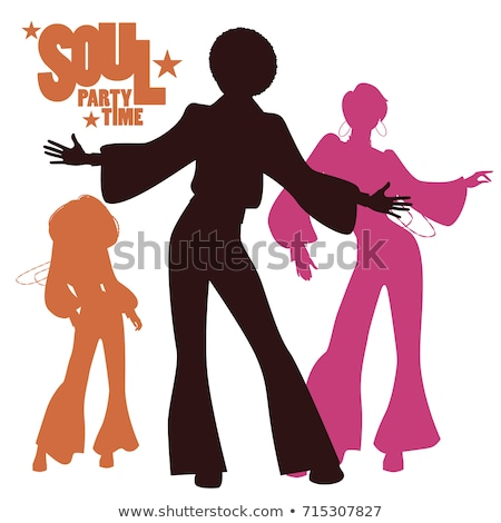 Disco Dancers Silhouettes of People in Nightclub Stock photo © robuart