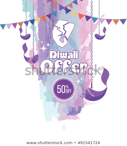 abstract watercolor ganesh chaturthi sale banner design stock photo © sarts