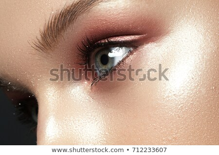 Ver azul mulher olho belo Foto stock © serdechny