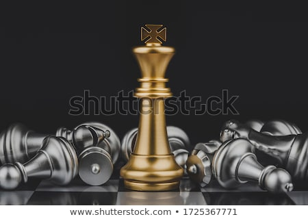 Chess king defeated Stock photo © montego
