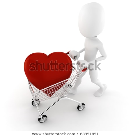 Stock photo: 3D Small People - Big Heart
