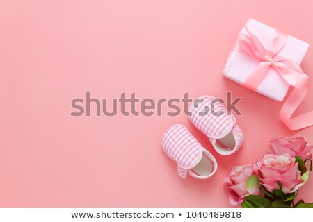pink baby shoes in the gift box Stock photo © adrenalina