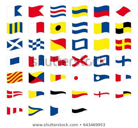 Nemzetközi jel tengerészeti integet zászlók izolált Stock fotó © ukasz_hampel