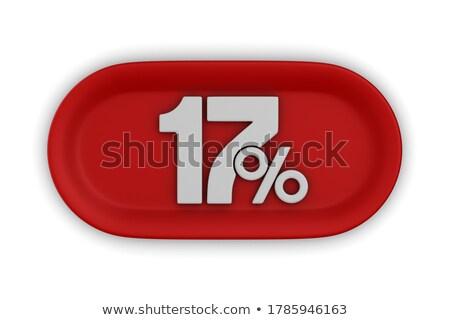 Dezessete por cento branco isolado ilustração 3d dinheiro Foto stock © ISerg