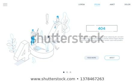 404 fout lijn ontwerp stijl isometrische Stockfoto © Decorwithme