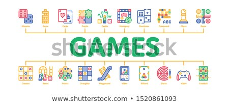 Interactivo ninos juegos mínimo infografía banner Foto stock © pikepicture