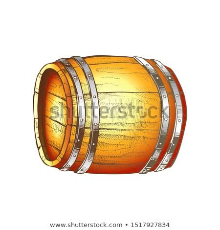 Vintage barril vista lateral color Foto stock © pikepicture