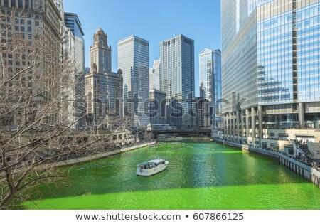 Chicago nehir 16 Aziz Patrick Günü gelenek Stok fotoğraf © vichie81