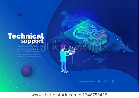 Teknik destek hizmet Sunucu bakım bilgisayar donanım Stok fotoğraf © RAStudio